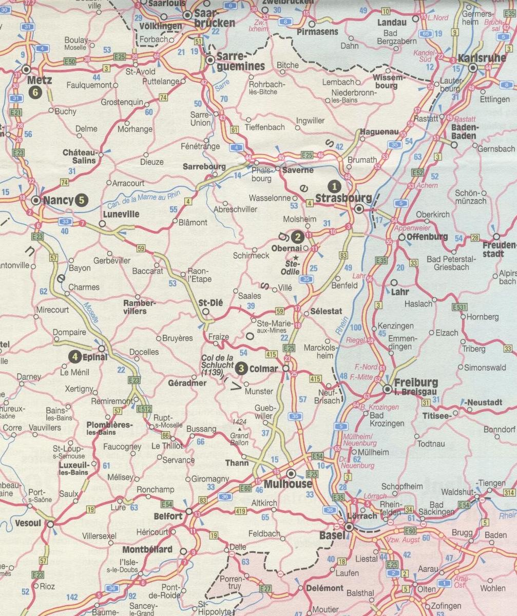 Tour Elsass Mit Vogesen